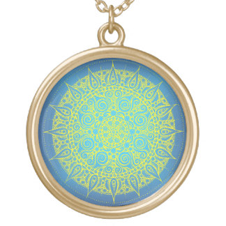 Cute Oriental Necklace blue/yellow