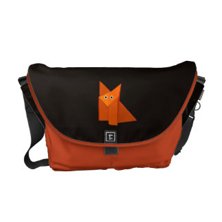 Cute Origami Fox Dark Courier Bag