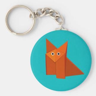 Cute Origami Fox Keychain