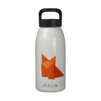 Cute Origami Fox Water Bottles