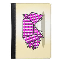 Cute origami Pig Illustration iPad Air Case