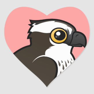 Cute Osprey Heart Sticker