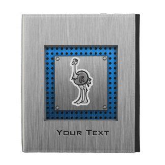 Cute Ostrich; Metal-look iPad Folio Cover