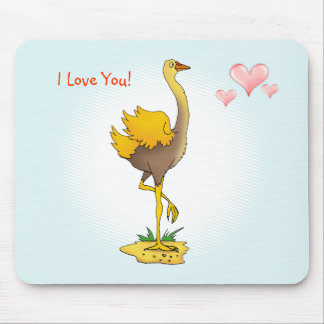Cute ostrich mouse pad