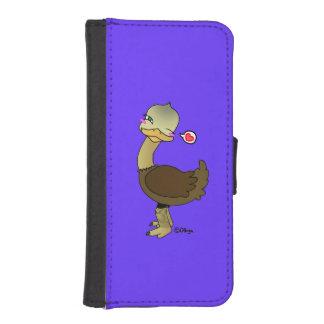 Cute ostrich wink billetera para teléfono