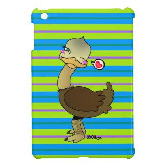 Cute ostrich wink iPad mini cover