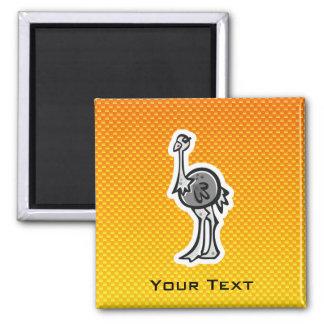 Cute Ostrich Yellow Orange Magnet