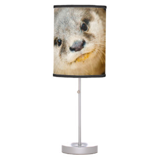 Cute Otter, Animal Portrait, Nature Photography Table Lamp