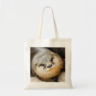 Cute Otter, Animal Portrait, Nature Photography Tote Bag