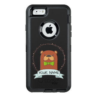 Cute Otter Cartoon Personalized OtterBox Defender iPhone Case