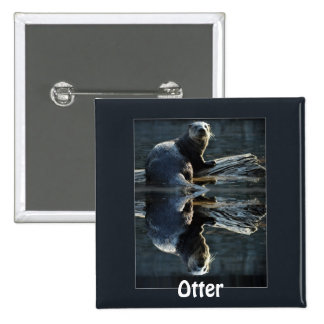 Cute Otter Design for Animal-lovers Pinback Button