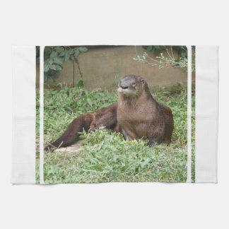 Cute Otter  Kitchen Towel
