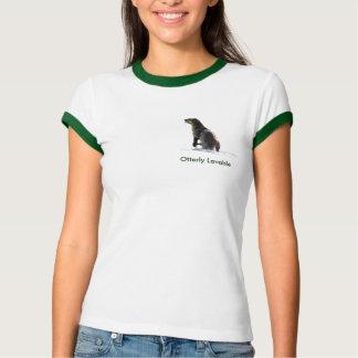 Cute OTTER Love Ladies Ringer Tee Shirt