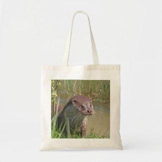Cute otter photo tote bag, gift idea