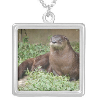 Cute Otter Sterling Silver Necklace