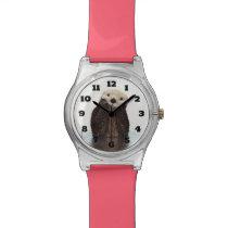 Cute Otter Wildlife Image Wrist Watch