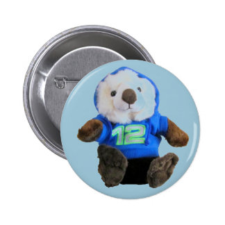 Cute Otter with Blue and Green 12 Hoodie Pinback Button