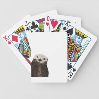 Cute otter with room to add your own text bicycle playing cards