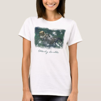 Cute Otterly Lovable Otter Photo Print Shirt
