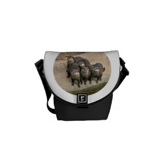 Cute Otters Wildlife Photo Courier Bag