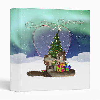Cute Our First Christmas Binder With Squirrels