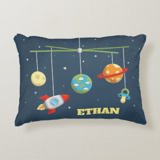 Cute Outer Space Crib Toys Baby Boy Nursery Pillow