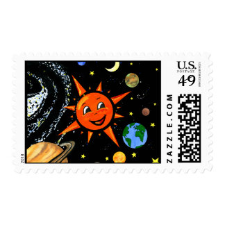 Cute Outer Space Stamp