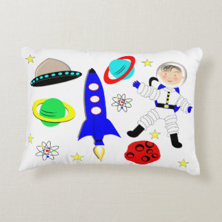 Cute Outer Space Themed Decorative Pillow