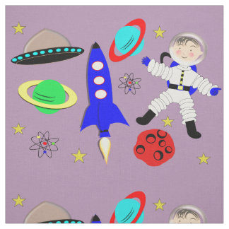 Space themed fabric zazzle for Space themed material