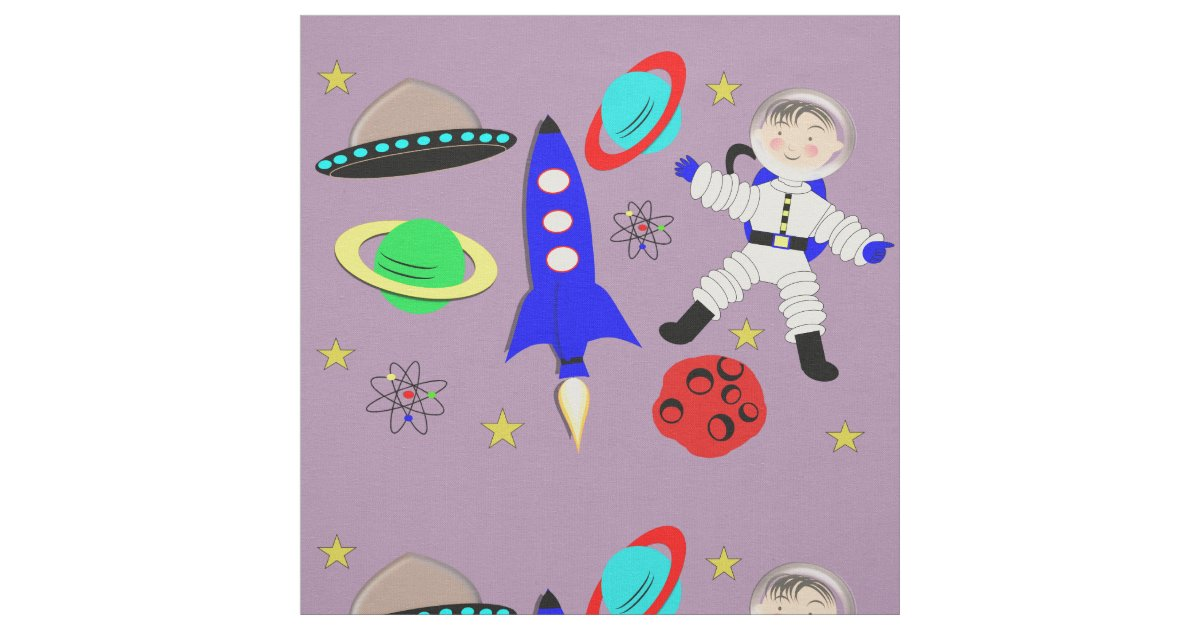 Cute outer space themed fabric zazzle for Outer space themed fabric