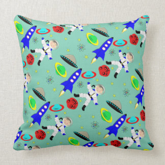 Cute Outer Space Themed Throw Pillow