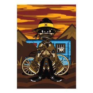 Cute Outlaw Cowboy RSVP Card Invite