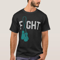 Cute Ovarian Cancer Awareness Ribbon Survivor Walk T-Shirt