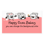 Cute oven stove cookie baking business cards