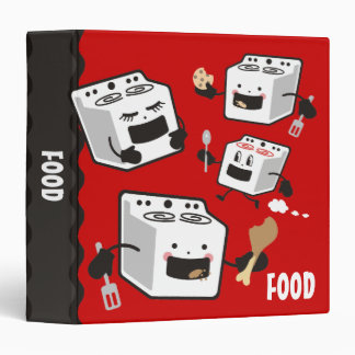 Cute oven stove cooking baking recipe binder