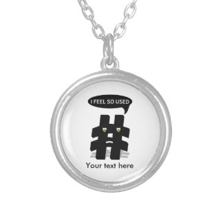 Cute Overused Hashtag Silver Plated Necklace