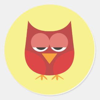 Cute Owl 07 Classic Round Sticker