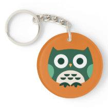 Cute Owl 08 Keychain