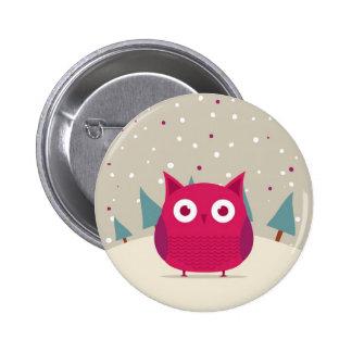 Cute owl 2 inch round button