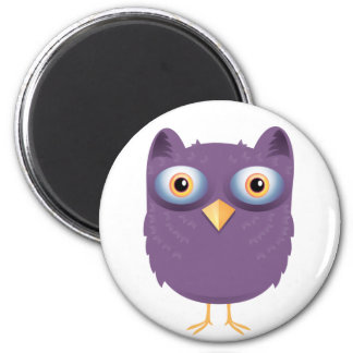 Cute Owl 2 Inch Round Magnet