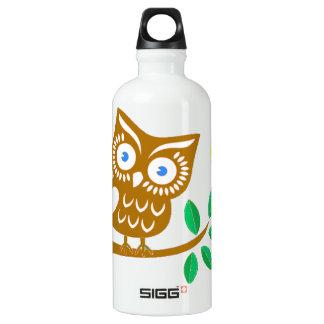 Cute Owl Aluminum Water Bottle