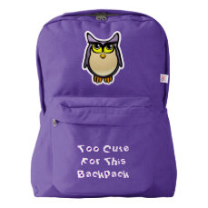 Cute Owl American Apparel™ Backpack