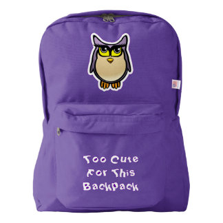 Cute Owl American Apparel™ Backpack