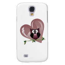 Cute Owl and Heart Gifts Samsung S4 Case