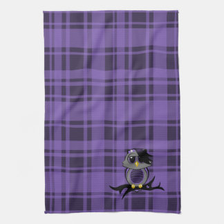 Cute Owl and Plaid Kitchen Towels