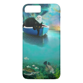 Cute owl and pussy-cat went to sea iPhone 7 plus case