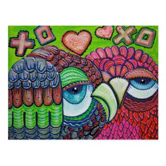 Cute Owl Art Postcard