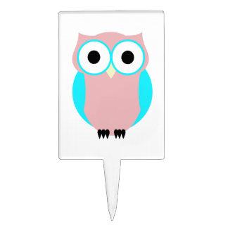 Cute Owl Baby Shower Cake Topper