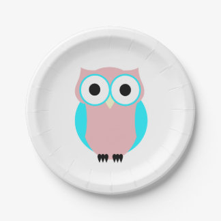 Cute Owl Baby Shower Paper Plates