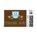 Cute Owl Baby Shower Thank You Postage Stamps
